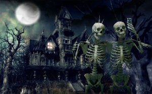 Haunted-House-Skeletons-Widescreen-Wallpaper